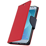 Avizar Etui folio Rouge Fancy Style pour Samsung Galaxy J3 2017