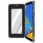 Avizar Etui folio Noir Miroir pour Samsung Galaxy A7 2018