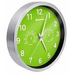 Bresser Horloge Murale 25cm Mytime Avec Température Et Humidité Couleur Verte BRE_8020310B4K000
