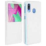 Avizar Etui folio Blanc pour Samsung Galaxy A40