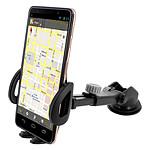 Avizar Support voiture Noir pour Tous les Smartphones faisant entre 55 et 95mm de largeur