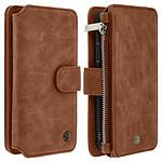 Avizar Etui folio Marron pour Apple iPhone X , Apple iPhone XS
