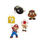World of Nintendo - Pack 5 figurines Super Mario New  Bros. U Acorn Plains 6 cm