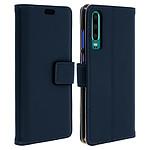 Avizar Etui folio Bleu Nuit Éco-cuir pour Huawei P30