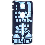 Avizar Adhésif Prédécoupé Smartphone / Cache batterie - Motorola Google Nexus 6 - Noir