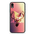 1001 Coques Coque silicone gel Apple iPhone XR motif Cerf Hipster