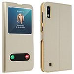 Avizar Etui folio Dorée pour Samsung Galaxy A10