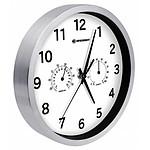 Bresser Horloge Murale 25cm Mytime Avec Température Et Humidité Couleur Blanche BRE_8020310GYE000