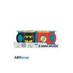 DC COMICS -  Set 2 mini-mugs - 110 ml - Batman & Flash x2