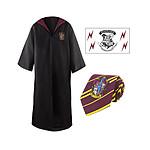 Harry Potter - Set robe, cravate & tatouage Gryffindor - Taille L