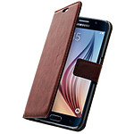 Avizar Etui folio Marron pour Samsung Galaxy S6