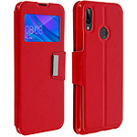 Avizar Etui folio Rouge Éco-cuir pour Huawei P Smart 2019 , Honor 10 Lite