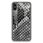 1001 Coques Coque silicone gel Apple iPhone X motif Texture Python