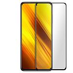 Avizar Film verre trempé Noir pour Xiaomi Poco X3