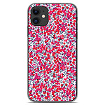 1001 Coques Coque silicone gel Apple iPhone 11 motif Liberty Wiltshire Rouge