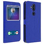 Avizar Etui folio Bleu pour Nokia 8.1