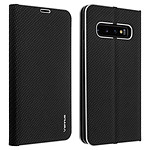 Avizar Etui folio Noir Carbone pour Samsung Galaxy S10