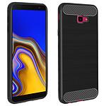 Avizar Coque Noir Carbone pour Samsung Galaxy J4 Plus