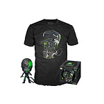 Alien - Set figurine et T-Shirt POP! & Tee 40th Xenomorph heo Exclusive - Taille S