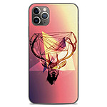 1001 Coques Coque silicone gel Apple iPhone 11 Pro Max motif Cerf Hipster