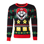 Nintendo - Sweat Christmas Super Mario Night - Taille S