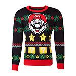 Nintendo - Sweat Christmas Super Mario Night - Taille L