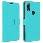 Avizar Etui folio Turquoise pour Xiaomi Redmi 7