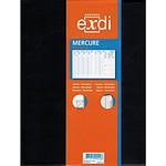 EXDI Agenda Semainier Mercure 21 x27 cm 1S / 2P Noir