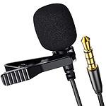 Avizar Micro-cravate Jack 3.5mm Enregistrement Audio avec Réduction de bruit - Noir