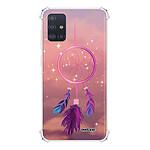 EVETANE Coque Samsung Galaxy A51 5G anti-choc souple avec angles renforcés transparente Attrape rêve rose
