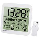 Bresser Horloge Blanche Avec Grand écran Lcd Et Prévisions Météos Sur 4 Jours BRE_7001900-WH