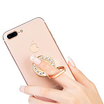 Avizar Bague de maintien Smartphone Crystal Strass métal Fonction support - Or