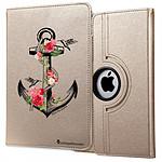 LA COQUE FRANCAISE Etui iPad 2/3/4 rigide or Ancre