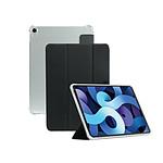 Mobilis Coque de Protection Folio pour iPad Air 4 10.9'' 2020, Étui avec Coins Renforcés, Transparent/Noir