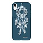 EVETANE Coque iPhone Xr Silicone Liquide Douce bleu marine Attrape reve blanc