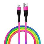 Avizar Câble Micro-USB Charge et Synchronisation Design Stylé 1.5m Robuste Multicolore