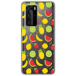 1001 Coques Coque silicone gel Huawei P40 Pro motif Fruits tropicaux