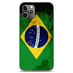 1001 Coques Coque silicone gel Apple iPhone 11 Pro motif Drapeau Brésil