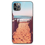 1001 Coques Coque silicone gel Apple iPhone 11 Pro Max motif Chemin de plage