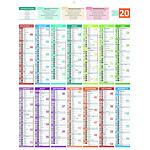 BOUCHUT Calendrier bancaire année civile Carte de France 55 x 43 cm