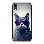 1001 Coques Coque silicone gel Apple iPhone XR motif Chat à lunette