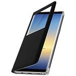 Avizar Etui folio Noir Fenêtre Affichage pour Samsung Galaxy Note 8