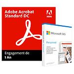 Pack Acrobat Standard DC + Microsoft Office 365 Personnel - Licence 1 an - 1 utilisateur - A télécharger