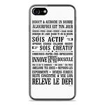 1001 Coques Coque silicone gel Apple IPhone 8 motif Citation 11