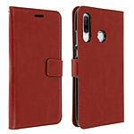 Avizar Etui folio Marron pour Huawei P30 Lite , Honor 20S , Huawei P30 Lite XL