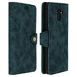 Avizar Etui folio Bleu Éco-cuir pour Samsung Galaxy J6