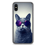 1001 Coques Coque silicone gel Apple iPhone X / XS motif Chat à lunette