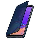 Avizar Etui folio Bleu Design Miroir pour Samsung Galaxy A7 2018