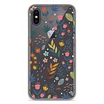 1001 Coques Coque silicone gel Apple iPhone XS Max motif Fleurs colorées