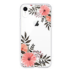 EVETANE Coque iPhone Xr 360 intégrale transparente Fleurs roses Tendance